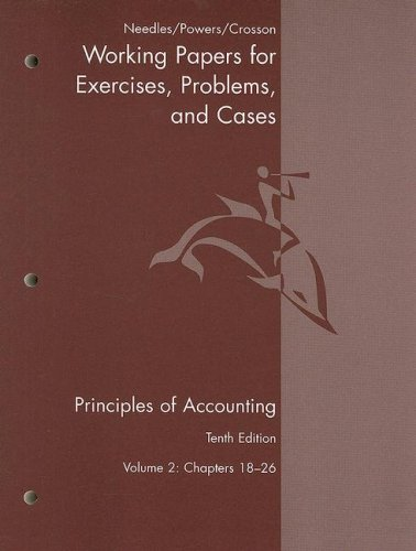 Principles of Accounting  10th 2008 9780618736447 Front Cover