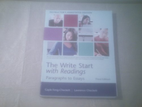 Write Start with Readings : Paragraphs to Essays 3rd 2008 9780618918447 Front Cover