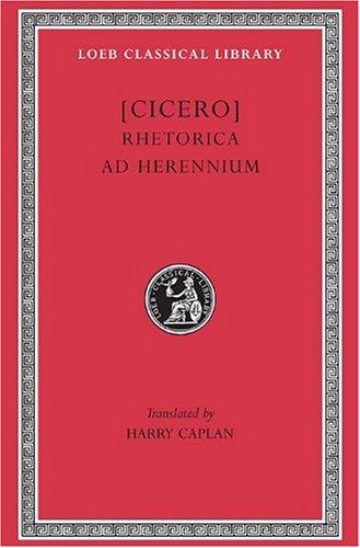 Rhetorica Ad Herennium   1954 edition cover