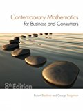 Contemporary Mathematics for Business and Consumers  8th 2017 9781305585447 Front Cover