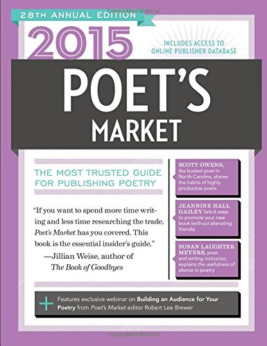 2015 Poet's Market The Most Trusted Guide for Publishing Poetry 28th 2014 edition cover