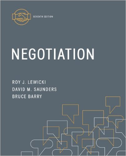 Negotiation  7th 2015 9780078029448 Front Cover