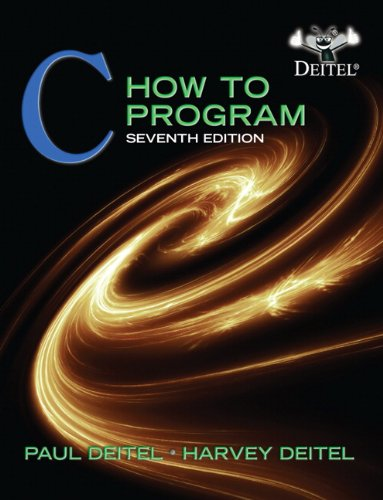 C How to Program  7th 2013 (Revised) edition cover