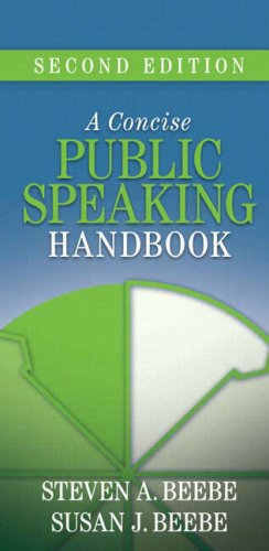 Concise Public Speaking Handbook  2nd 2009 edition cover