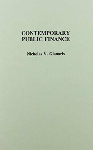 Contemporary Public Finance   1989 9780275930448 Front Cover