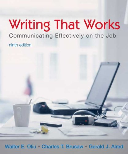 Writing That Works Communicating Effectively on the Job 9th 2007 edition cover