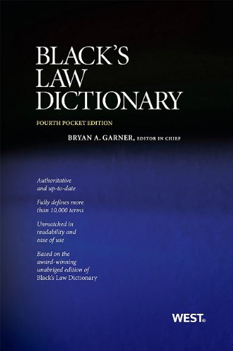 Black's Law Dictionary 4th 2011 (Revised) edition cover