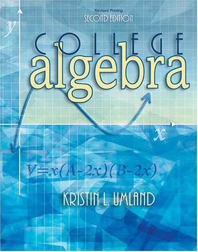 COLLEGE ALGEBRA 2nd 2003 9780757511448 Front Cover