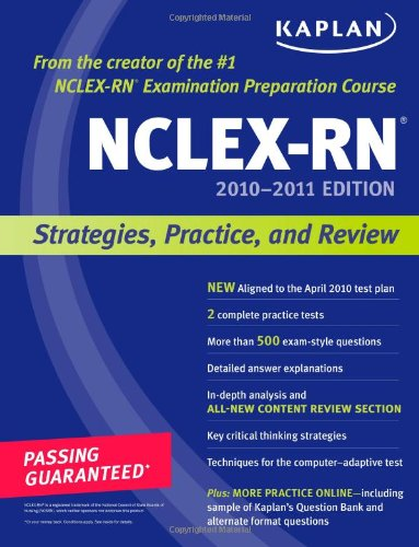 NCLEX-RN 2010-2011 Strategies, Practice, and Review N/A edition cover