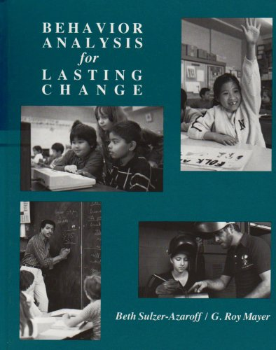 Behavior Analysis for Lasting Change  2nd 1991 (Revised) edition cover