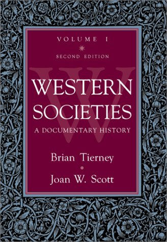 Western Societies A Documentary History 2nd 2000 (Revised) edition cover
