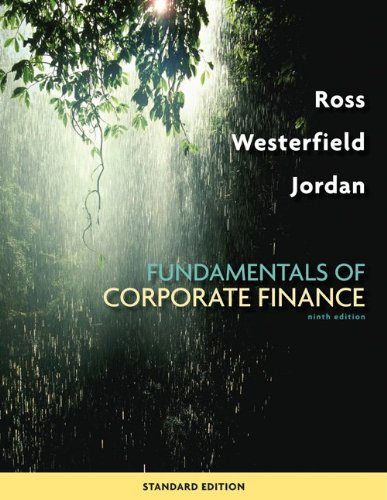 Loose-Leaf Fundamentals of Corporate Finance  9th 2010 edition cover