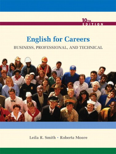 English for Careers Business, Professional, and Technical 10th 2010 9780135075449 Front Cover