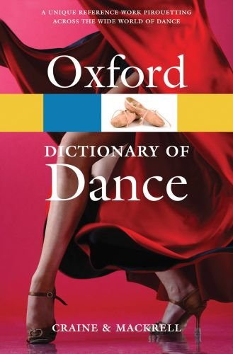 Oxford Dictionary of Dance  2nd 2010 edition cover