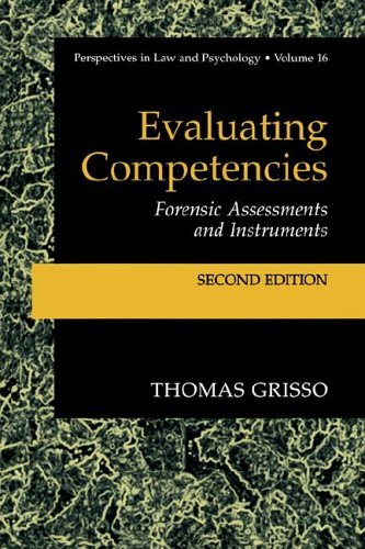 Evaluating Competencies Forensic Assessments and Instruments 2nd 2003 (Revised) edition cover