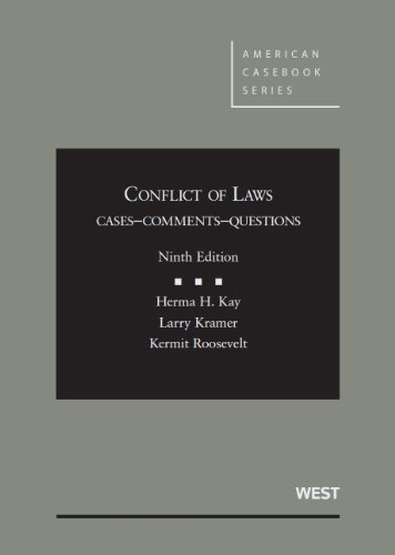 Conflict of Laws: Cases, Comments, Questions  2013 edition cover