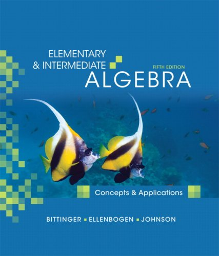 Elementary and Intermediate Algebra Concepts and Applications 5th 2010 edition cover