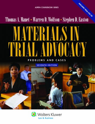 Materials in Trial Advocacy Problems and Cases 7th 2011 (Revised) 9780735510449 Front Cover