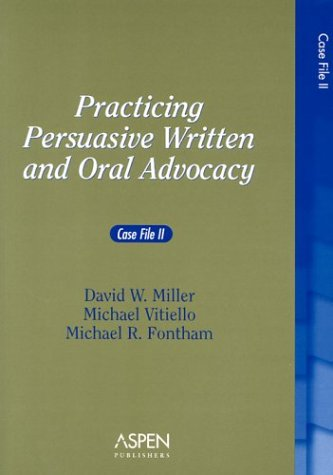 Practicing Persuasive Written and Oral Advocacy Case File  2003 edition cover