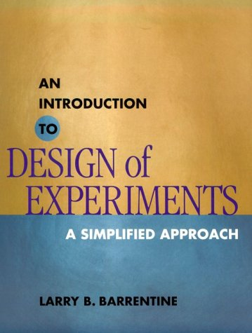 Introduction to Design of Experiments A Simplified Approach N/A edition cover