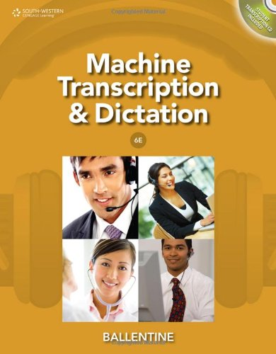 Machine Transcription and Dictation (with CD-ROM)  6th 2012 edition cover