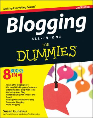 Blogging All-in-One for Dummies�  2nd 2012 edition cover