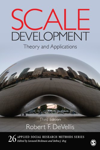 Scale Development Theory and Applications 3rd 2012 edition cover