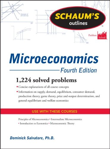 Microeconomics 1,224 Solved Problems 4th 2011 (Revised) edition cover