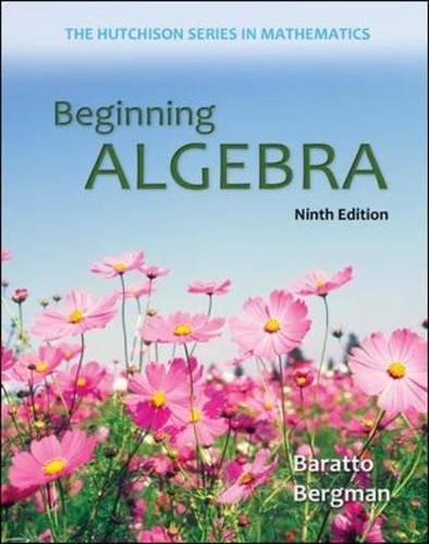 Beginning Algebra  9th 2014 edition cover