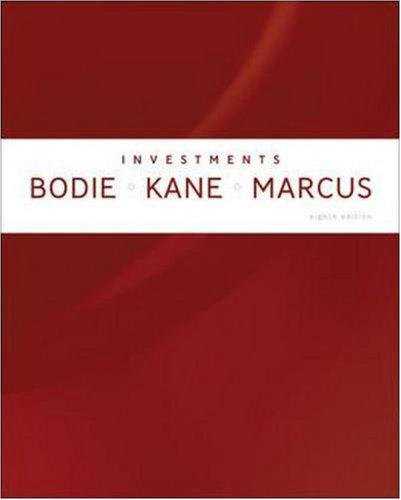 Investments 8th 2009 edition cover