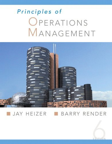 Principles of Operations Management  6th 2006 (Student Manual, Study Guide, etc.) 9780131554450 Front Cover