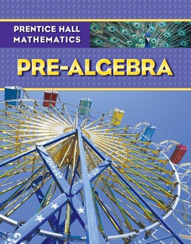 Prentice Hall Math Pre-Algebra Student Edition   2009 9780133659450 Front Cover