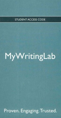 NEW MyWritingLab   2011 edition cover