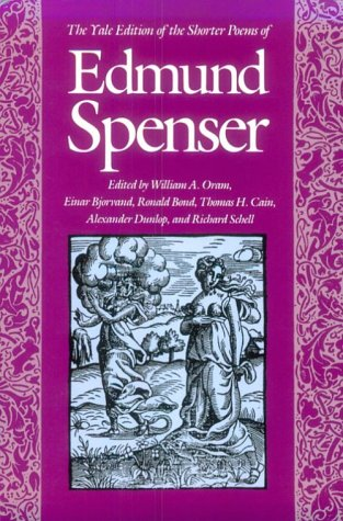 Yale Edition of the Shorter Poems of Edmund Spenser   1989 edition cover