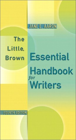 Little, Brown Essential Handbook for Writers 4th 2003 edition cover
