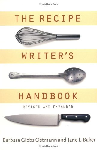 Recipe Writer's Handbook  2nd 2001 (Revised) edition cover