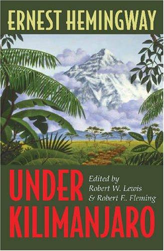 Under Kilimanjaro   2005 9780873388450 Front Cover