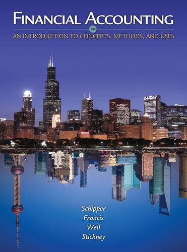 Financial Accounting An Introduction to Concepts, Methods and Uses 14th 2013 9781111823450 Front Cover