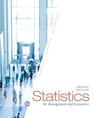 Statistics for Management and Economics  10th 2015 edition cover