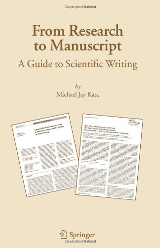 From Research to Manuscript A Guide to Scientific Writing  2006 edition cover