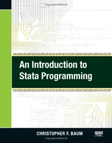 Introduction to Stata Programming   2010 edition cover
