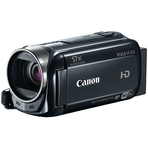 Canon VIXIA HF R50 Full HD Camcorder with Wi-Fi and 3-Inch LCD (Black) product image