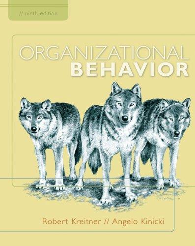 Organizational Behavior  9th 2010 edition cover