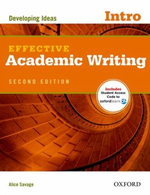 Effective Academic Writing  2nd (Student Manual, Study Guide, etc.) edition cover