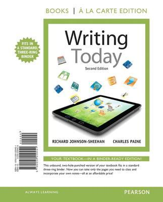 Writing Today, Books a la Carte Edition  2nd 2013 edition cover