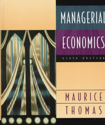 Managerial Economics 6th 1999 edition cover