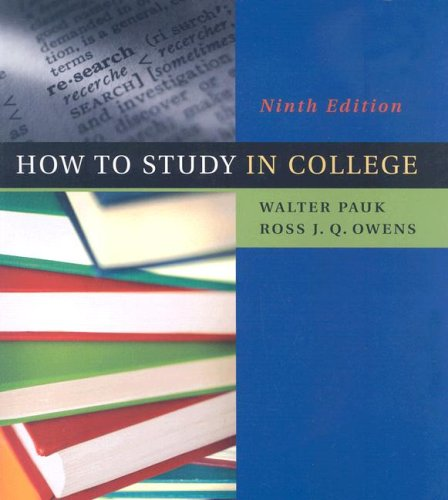 How to Study in College  9th 2008 edition cover