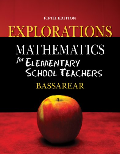Mathematics for Elementary School Teachers Explorations  5th 2012 edition cover
