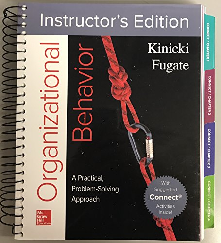 ORGANIZATIONAL BEHAVIOR >INSTRS.ED<     N/A 9781259593451 Front Cover
