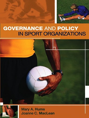 Governance and Policy in Sport Organizations   2003 edition cover